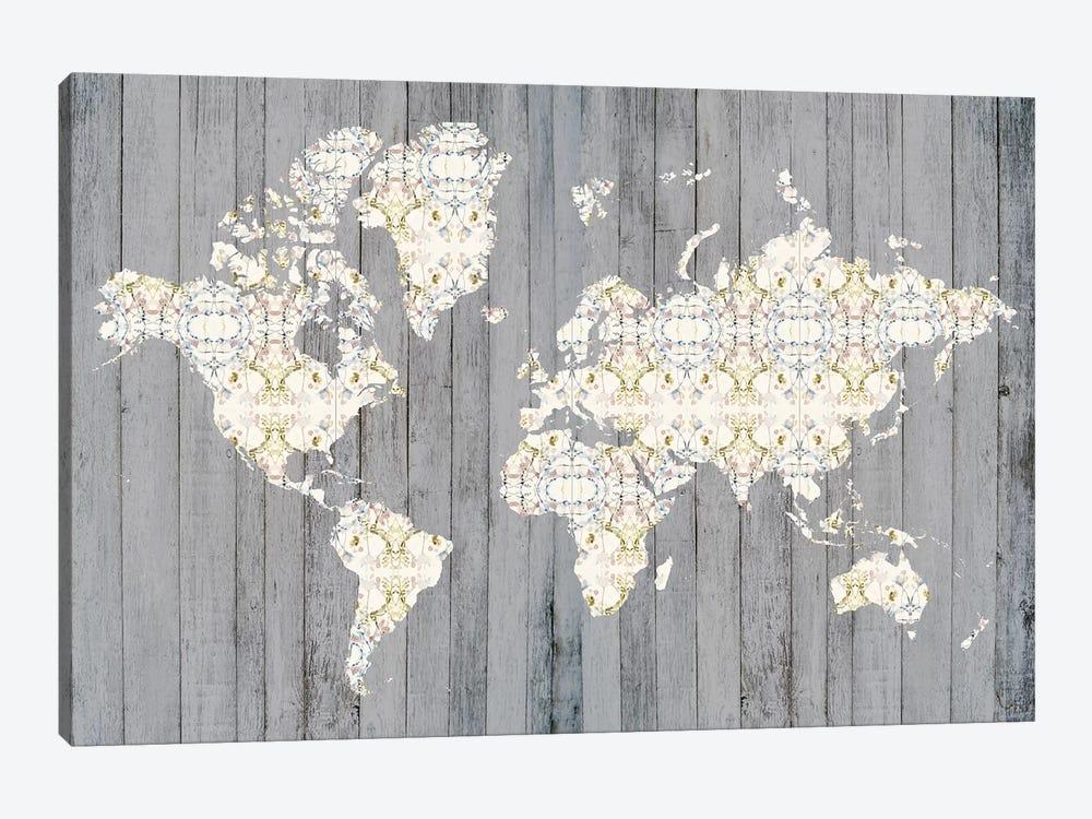 Flower Map I by Jennifer Goldberger 1-piece Canvas Artwork