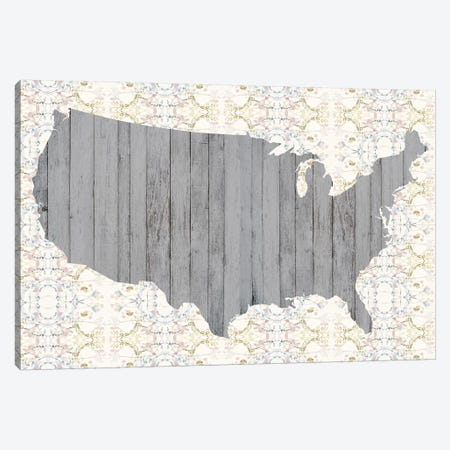 Flower Map IV Canvas Print #JGO583} by Jennifer Goldberger Canvas Wall Art
