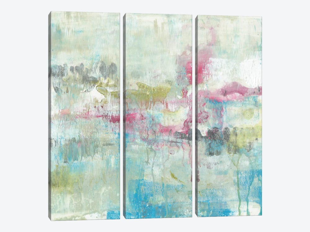 Fresh Abstract I by Jennifer Goldberger 3-piece Canvas Artwork