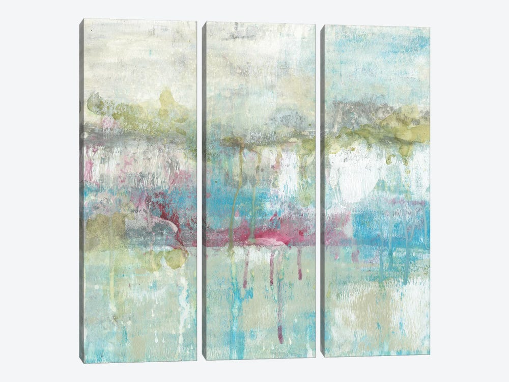 Fresh Abstract II by Jennifer Goldberger 3-piece Canvas Art Print