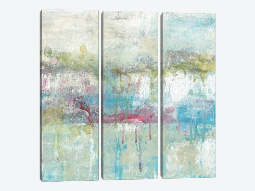 Fresh Abstract II by Jennifer Goldberger 3-piece Canvas Art Print