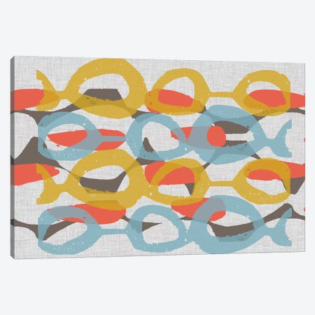 Mid Century Pattern I 3-Piece Canvas #JGO594} by Jennifer Goldberger Canvas Art
