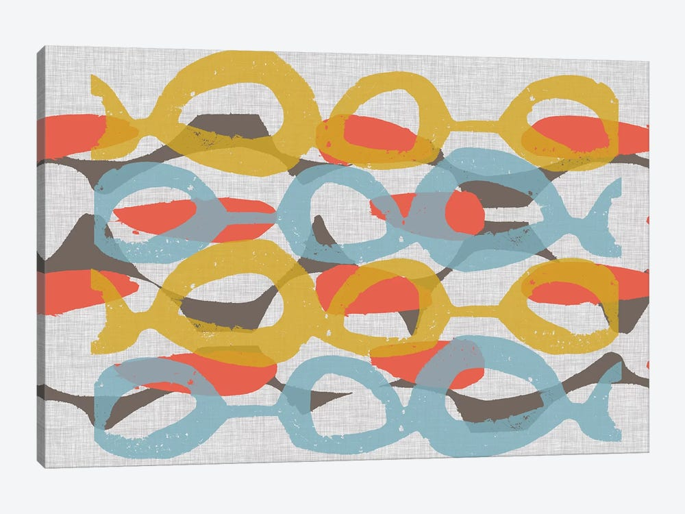 Mid Century Pattern I by Jennifer Goldberger 1-piece Canvas Print