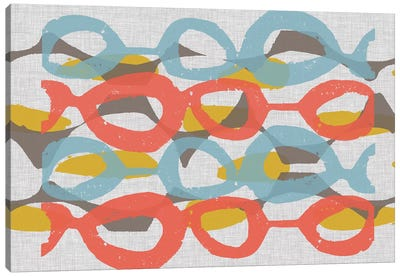 Mid Century Pattern II Canvas Art Print