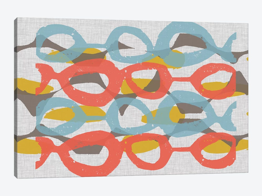 Mid Century Pattern II by Jennifer Goldberger 1-piece Canvas Artwork