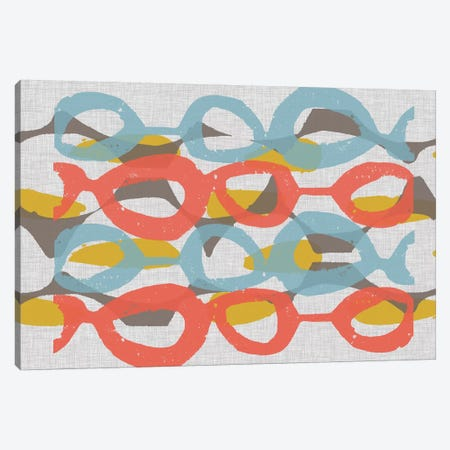Mid Century Pattern II 3-Piece Canvas #JGO595} by Jennifer Goldberger Canvas Artwork