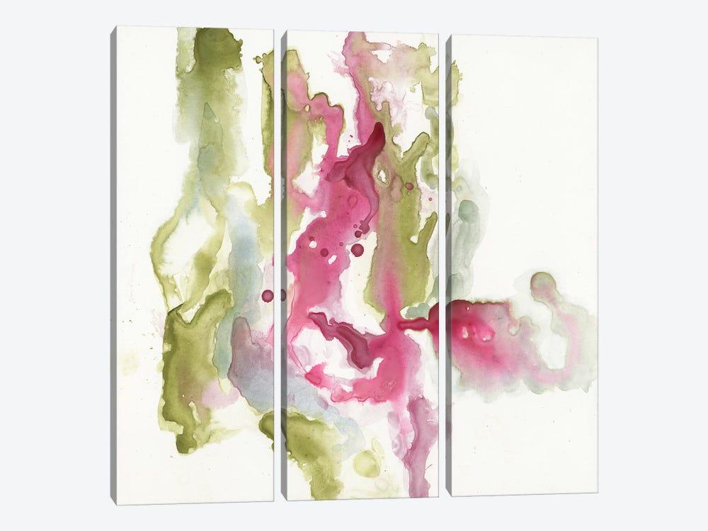 Minimalist Fuchsia I by Jennifer Goldberger 3-piece Canvas Print