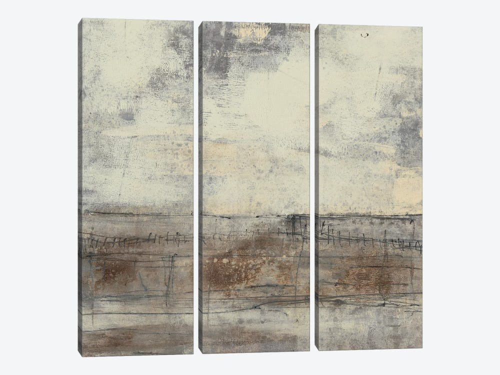Neutral Plane I by Jennifer Goldberger 3-piece Canvas Print
