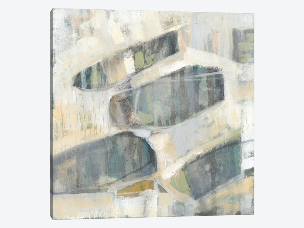 Grey Orbs II by Jennifer Goldberger 1-piece Canvas Print
