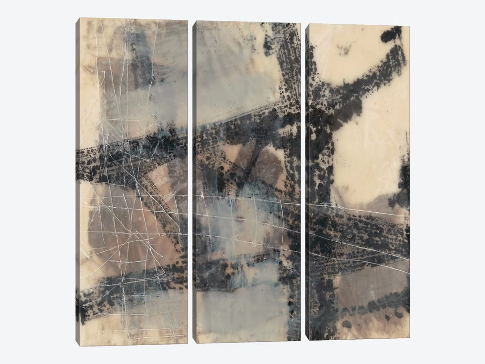 Push And Pull II by Jennifer Goldberger 3-piece Canvas Artwork