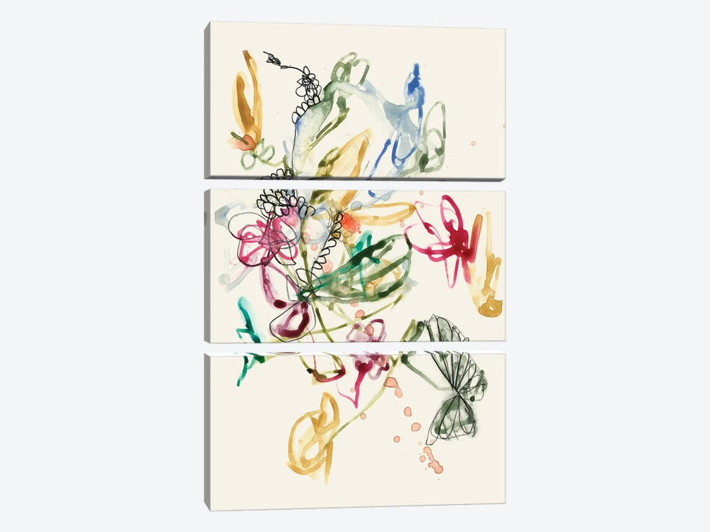 Scribble Arrangement I by Jennifer Goldberger 3-piece Canvas Art Print
