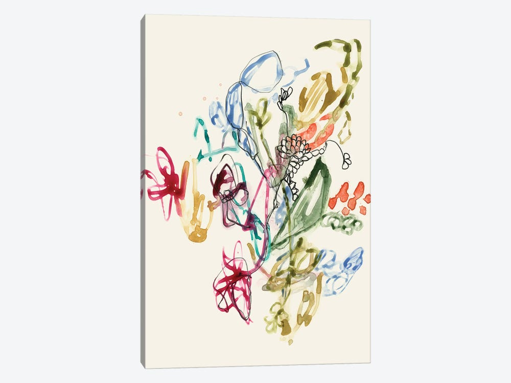 Scribble Arrangement II by Jennifer Goldberger 1-piece Canvas Art