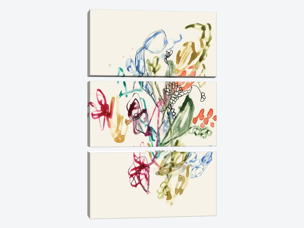 Scribble Arrangement II by Jennifer Goldberger 3-piece Canvas Artwork