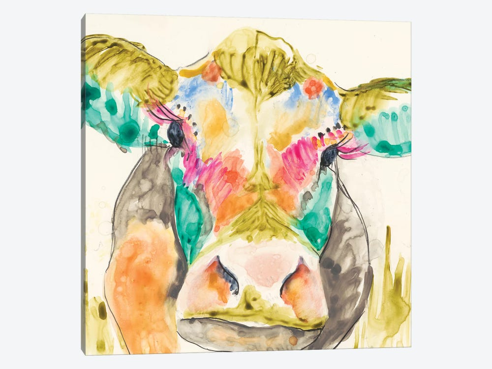 Hi-Fi Cow I by Jennifer Goldberger 1-piece Art Print