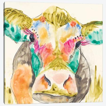 Hi-Fi Cow I Canvas Print #JGO60} by Jennifer Goldberger Canvas Art