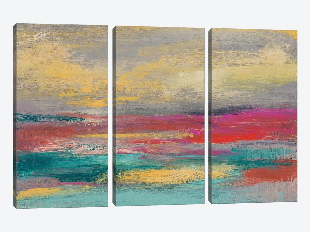 Sunset Study I by Jennifer Goldberger 3-piece Canvas Wall Art
