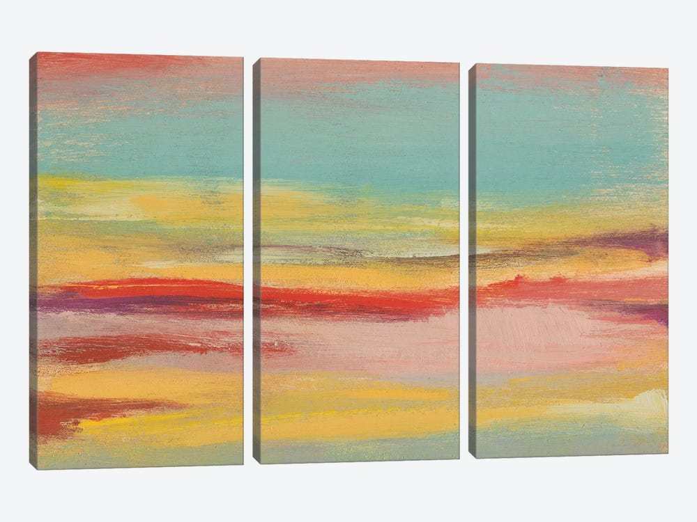 Sunset Study V by Jennifer Goldberger 3-piece Canvas Wall Art