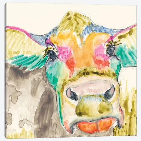 Hi-Fi Cow II Canvas Print #JGO61} by Jennifer Goldberger Canvas Art