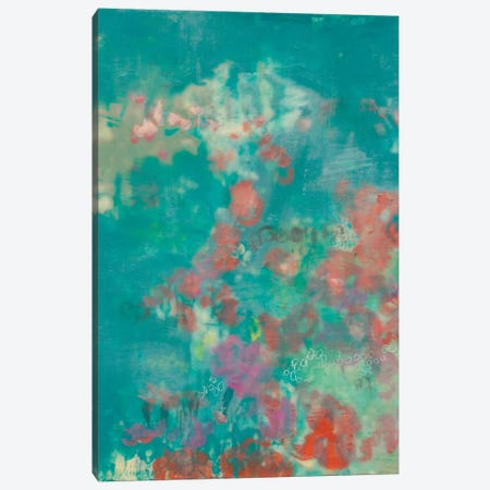 Teal Rose Garden I Canvas Print #JGO621} by Jennifer Goldberger Canvas Print
