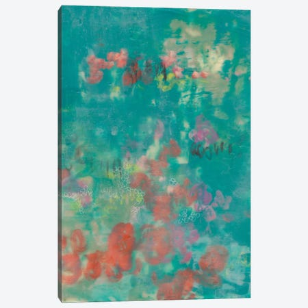 Teal Rose Garden II Canvas Print #JGO622} by Jennifer Goldberger Canvas Print