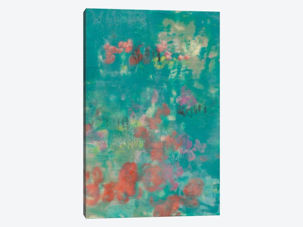 Teal Rose Garden II by Jennifer Goldberger 1-piece Canvas Wall Art