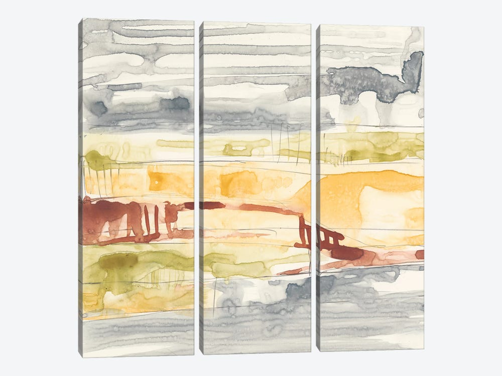 Tiered Layers I by Jennifer Goldberger 3-piece Art Print