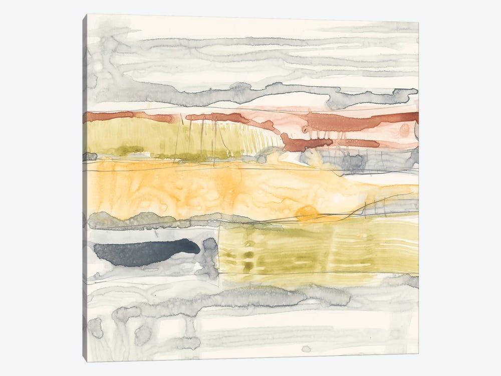 Tiered Layers II by Jennifer Goldberger 1-piece Canvas Art
