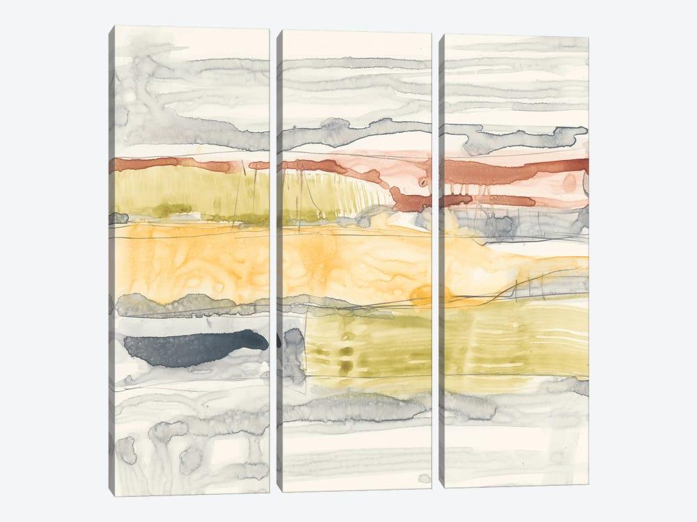 Tiered Layers II by Jennifer Goldberger 3-piece Canvas Art