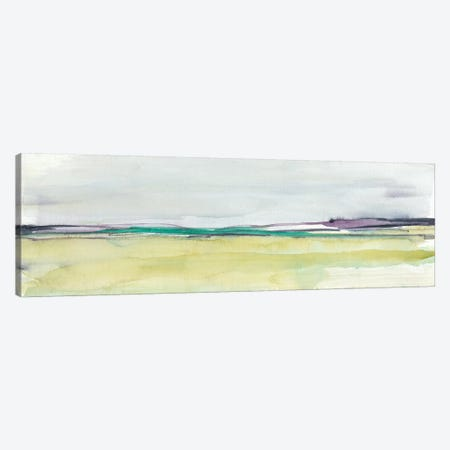 Amethyst & Emerald Horizon I Canvas Print #JGO625} by Jennifer Goldberger Canvas Artwork