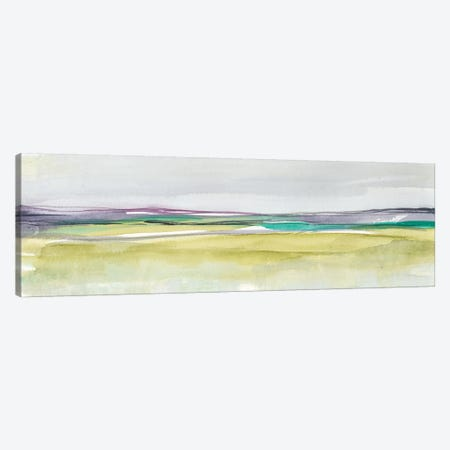 Amethyst & Emerald Horizon II 3-Piece Canvas #JGO626} by Jennifer Goldberger Canvas Artwork