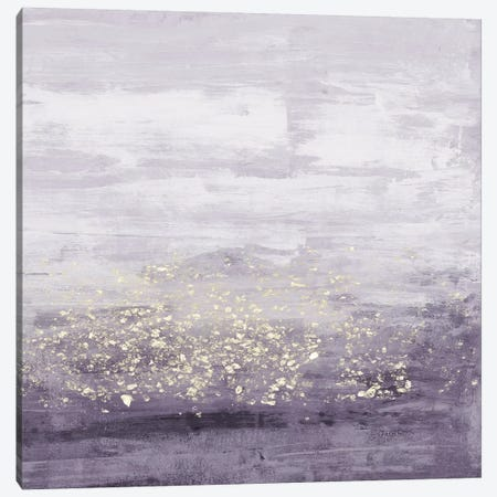 Amethyst Glitter I Canvas Print #JGO627} by Jennifer Goldberger Canvas Art