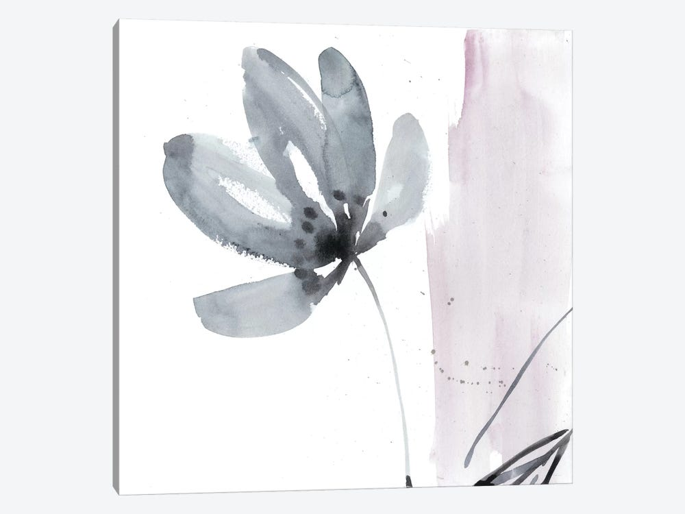 Blush Flower Splash I by Jennifer Goldberger 1-piece Canvas Art