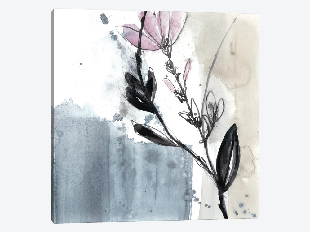 Blush Flower Splash V by Jennifer Goldberger 1-piece Canvas Wall Art