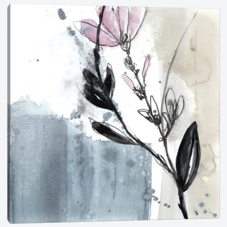 Blush Flower Splash V 3-Piece Canvas #JGO635} by Jennifer Goldberger Canvas Art Print
