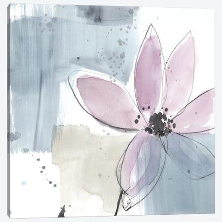 Blush Flower Splash VI Canvas Print #JGO636} by Jennifer Goldberger Canvas Print