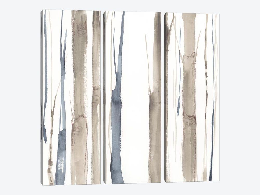 Duo Tone Trees II by Jennifer Goldberger 3-piece Canvas Art