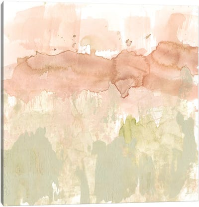 Dusty Blush & Olive II Canvas Art Print