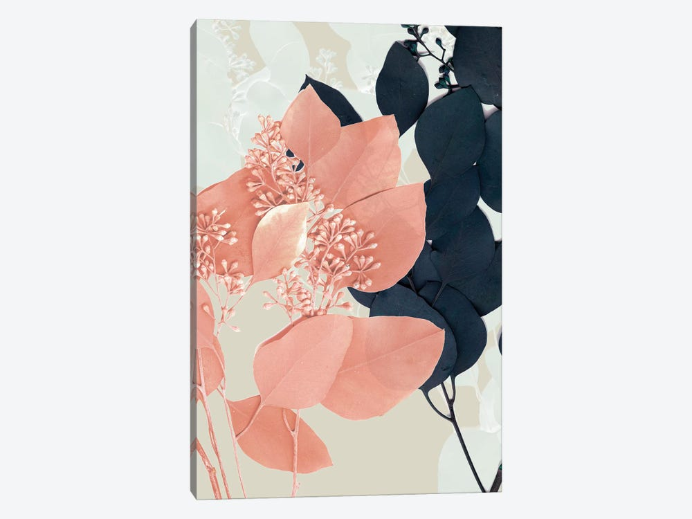 Indigo & Blush Leaves I by Jennifer Goldberger 1-piece Art Print