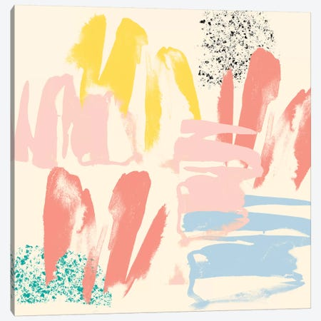 Retro Op I Canvas Print #JGO688} by Jennifer Goldberger Art Print