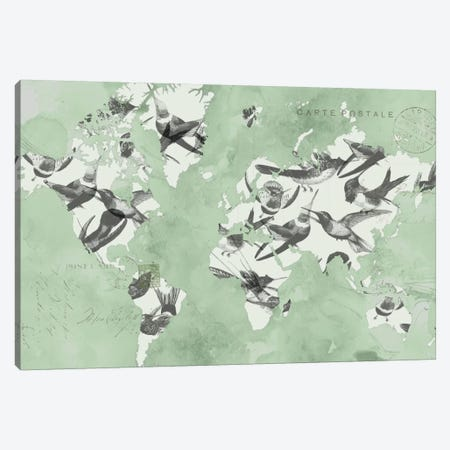 Migration Of Birds Canvas Print #JGO68} by Jennifer Goldberger Canvas Wall Art