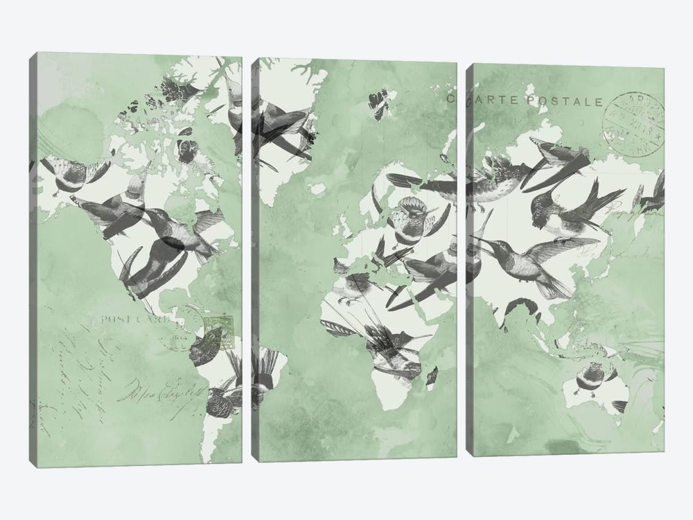 Migration Of Birds by Jennifer Goldberger 3-piece Art Print