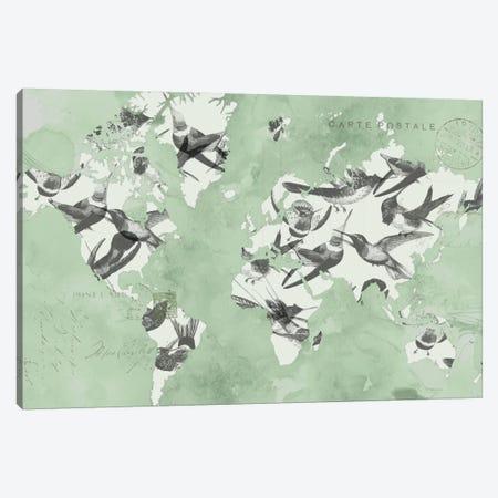 Migration Of Birds Canvas Print #JGO68} by Jennifer Goldberger Canvas Wall Art