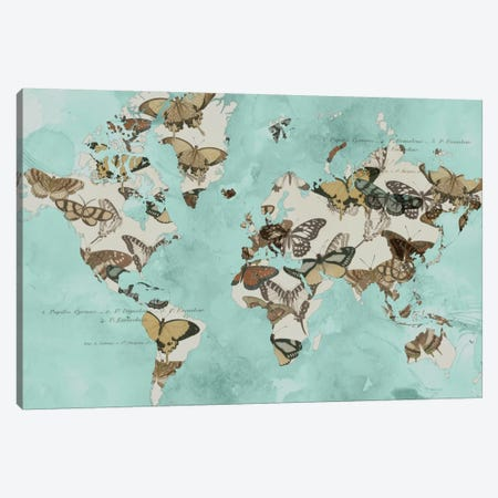 Migration Of Butterflies Canvas Print #JGO69} by Jennifer Goldberger Canvas Art