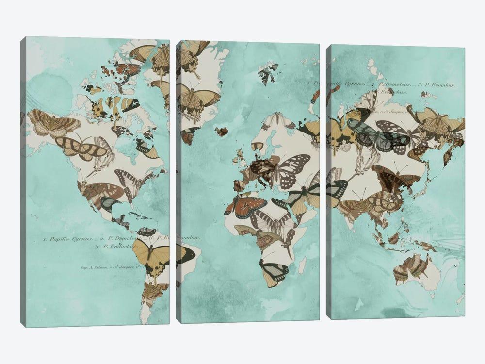 Migration Of Butterflies by Jennifer Goldberger 3-piece Canvas Art