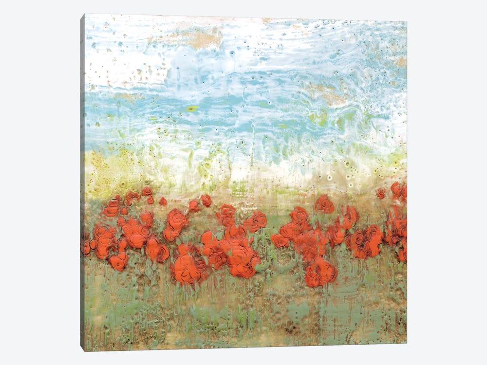Coral Poppies I by Jennifer Goldberger 1-piece Canvas Art