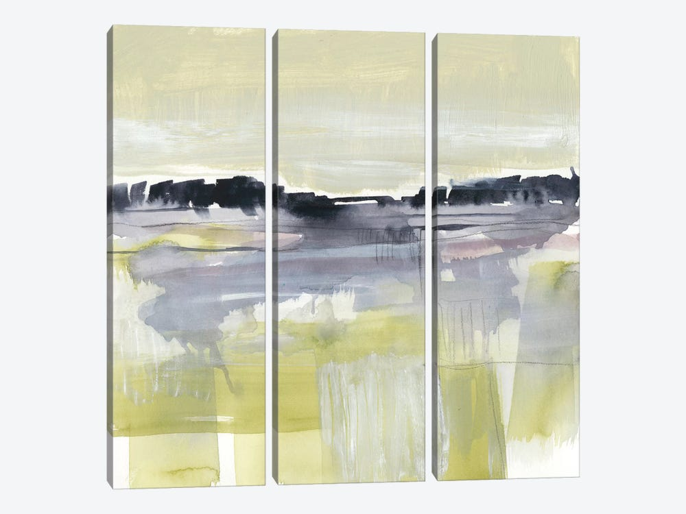 Violet & Olive Field II by Jennifer Goldberger 3-piece Canvas Print
