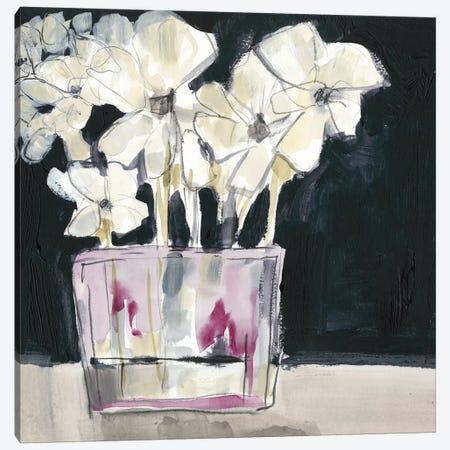 White Flowers In Fuchsia II Canvas Print #JGO712} by Jennifer Goldberger Canvas Art Print