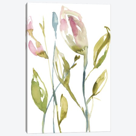 Blooming Stems II 3-Piece Canvas #JGO719} by Jennifer Goldberger Canvas Art Print
