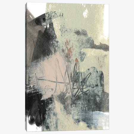 Blush & Black I Canvas Print #JGO720} by Jennifer Goldberger Canvas Art