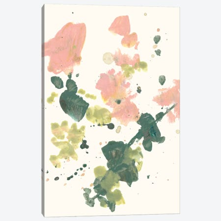 Blush & Olive Splash I Canvas Print #JGO722} by Jennifer Goldberger Canvas Wall Art